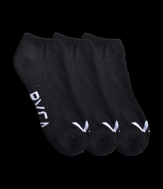 RVCA 3PK Sport Logo Super NoShow Socks