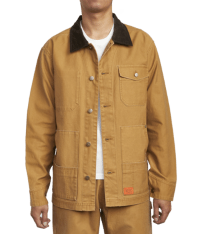 RVCA Chainmail Chore Jacket - CAMEL