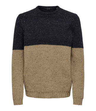 Only & Sons NAZLO Block Crew Neck -