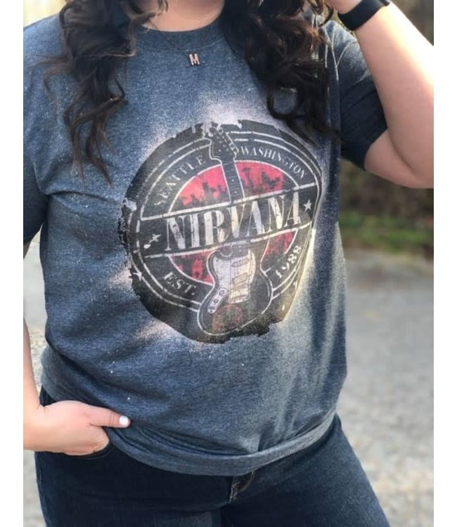 #wearfnf Nirvana T-Shirt - DARK GREY HEATHER