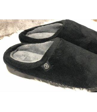Isotoner Memory Foam Slipper - BLACK