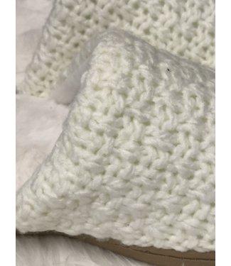 Isotoner Memory Foam Slipper - OFF WHITE