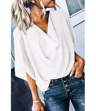 #wearfnf Loose Fit Blouse - WHITE