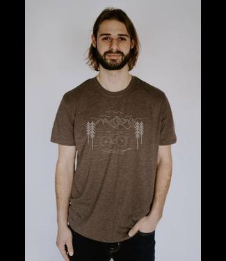 Live Life Clothing Co. Bike Life  T-Shirt - BROWN