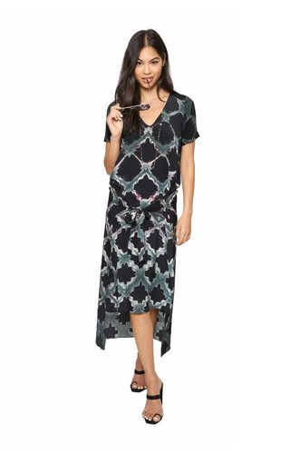Laura Siegel Laura Siegel Geometric Clamp Tie Dress