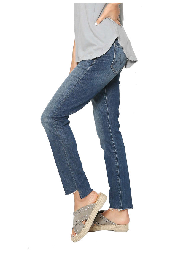 Mother Denim The Looker Ankle Step Fray