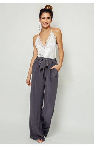 Nightcap Nightcap Belted Silk Pant