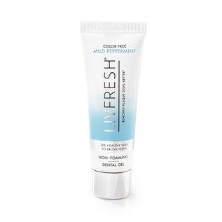 LIVFRESH  Dental Gel by Livionex * Mild Peppermint, color free, non-foaming *  6 Tube Pack