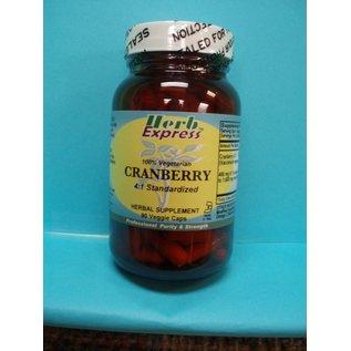 HERB EXPRESS Cranberry 90 Veggie Capsules Vitamin Express