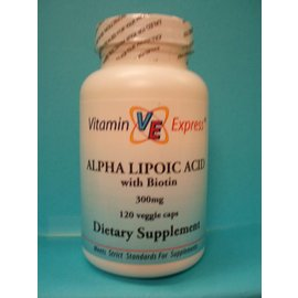 VITAMIN EXPRESS Alpha-Lipoic Acid w/Biotin 300mg 120v