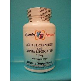 VITAMIN EXPRESS Acetyl L-Carnitine w/Alpha Lipoic Acid 60v