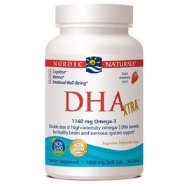NORDIC NATURALS DHA Xtra Strawberry 60sg