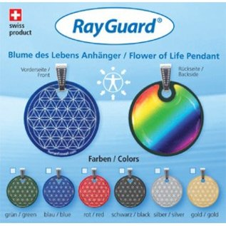 RAYGUARD RayGuard Green Flower of Life Pendant