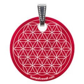 RAYGUARD RayGuard Red Flower of Life Pendant
