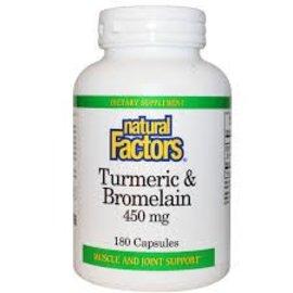 Natural Factors Turmeric Bromelain 180c Vitamin Express