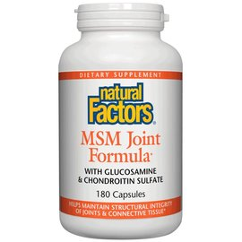 NATURAL FACTORS Natural Factors MSM Joint Formula 180 capsules -Vitamin Express