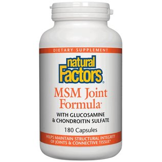 NATURAL FACTORS Natural Factors MSM Joint Formula 180 Capsules - Vitamin Express