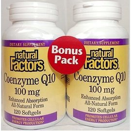 NATURAL FACTORS Natural Factors CoQ10 100mg 60+60sg BONUS