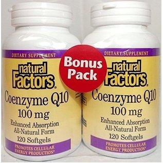NATURAL FACTORS Natural Factors CoQ10 100mg 60+60sg BO