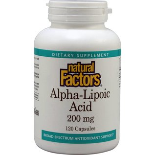 NATURAL FACTORS Natural Factors Alpha-Lipoic Acid 200mg 120c Vitamin Express