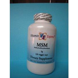 VITAMIN EXPRESS MSM (Methylsulfonylmethane) 1000mg 120 Veggie Capsules