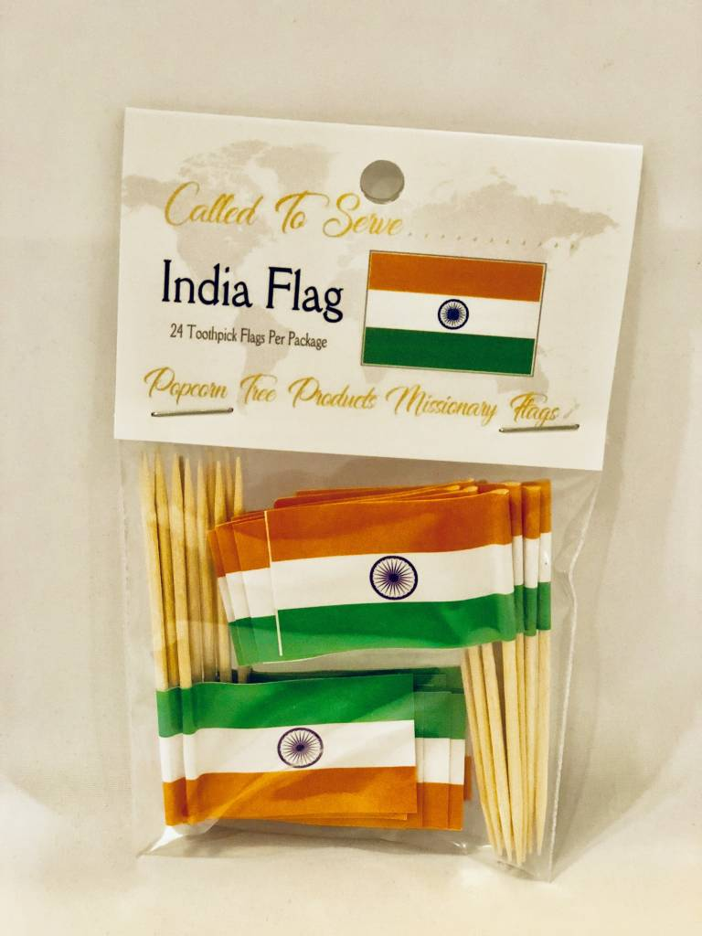Popcorn Tree Called to Serve Toothpick Flags - India