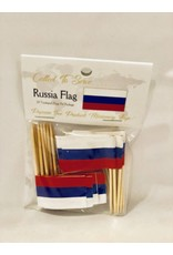 Popcorn Tree Called to Serve Toothpick Flags - Russia