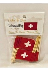 Popcorn Tree Called to Serve Toothpick Flags- Switzerland