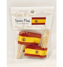 Popcorn Tree Called to Serve Toothpick Flags - Spain