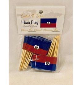 Popcorn Tree Called to Serve Toothpick Flag - Haiti