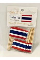 Popcorn Tree Called to Serve Toothpick Flags - Thailand