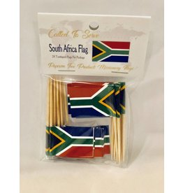 Popcorn Tree Called to Serve Toothpick Flags - South Africa