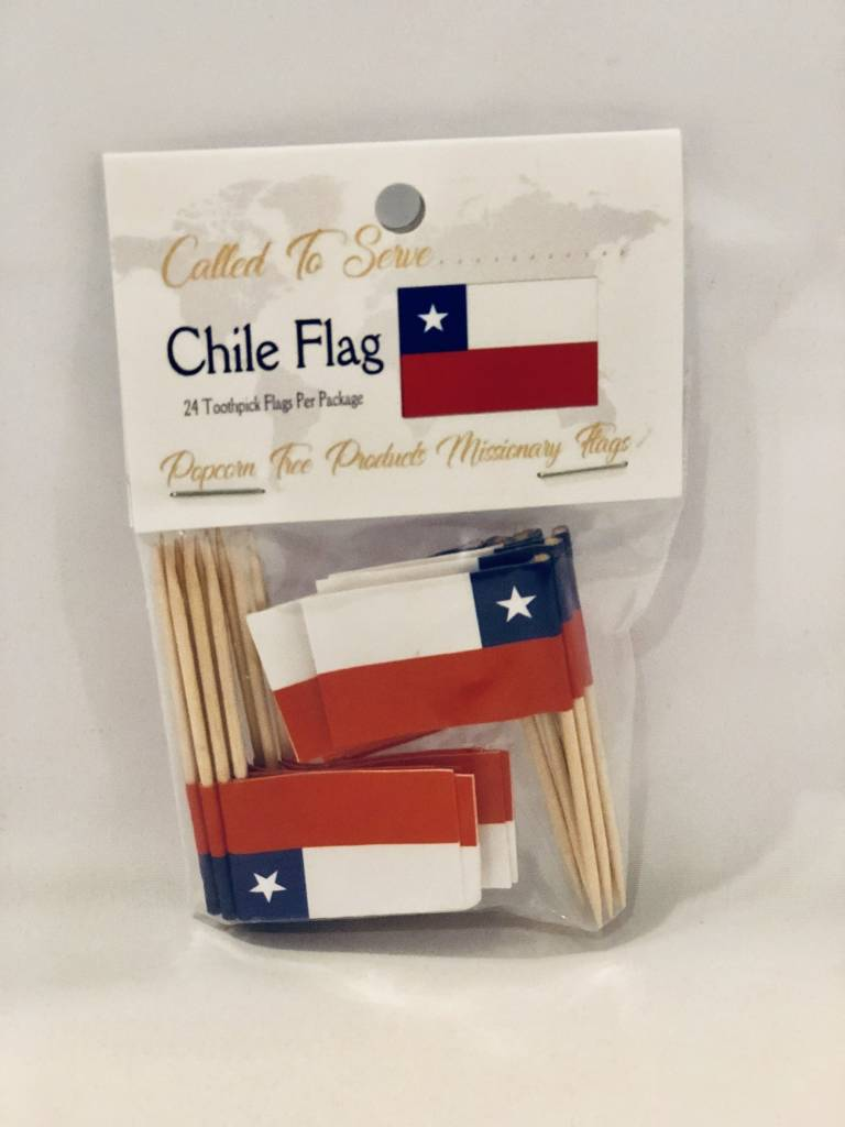 Popcorn Tree Called to Serve Toothpick Flags - Chile