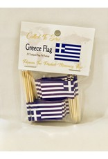 Popcorn Tree Called to Serve Toothpick Flags - Greece
