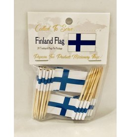 Popcorn Tree Called to Serve Toothpick Flags - Finland