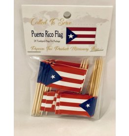 Popcorn Tree Called to Serve Toothpick Flags - Puerto Rico