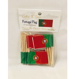 Popcorn Tree Called to Serve Toothpick Flags - Portugal
