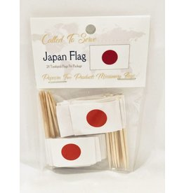 Popcorn Tree Called to Serve Toothpick Flags - Japan