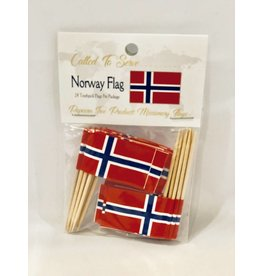 Popcorn Tree Called to Serve Toothpick Flags - Norway
