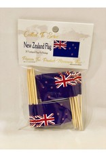 Popcorn Tree Called to Serve Toothpick Flags - New Zealand