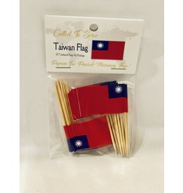 Popcorn Tree Called to Serve Toothpick Flags - Taiwan