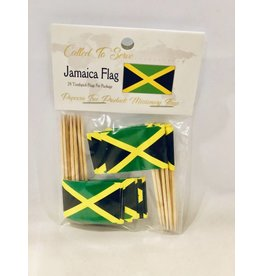 Popcorn Tree Called to Serve Toothpick Flags - Jamaica