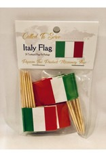 Popcorn Tree Called to Serve Toothpick Flags - Italy