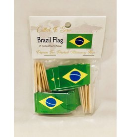 Popcorn Tree Called to Serve Toothpick Flag - Brazil