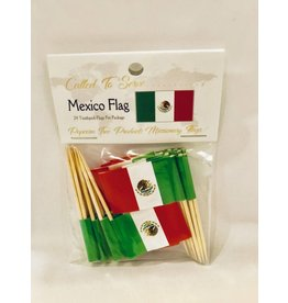 Popcorn Tree Called to Serve Toothpick Flags - Mexico
