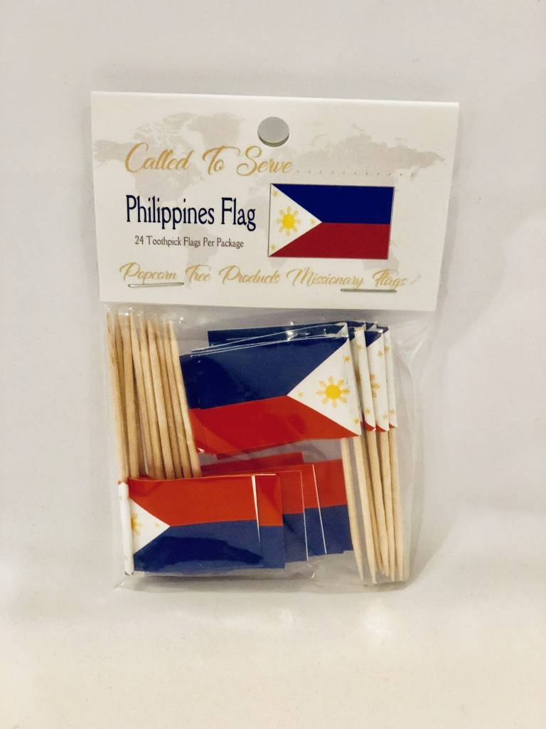 Popcorn Tree Called to Serve Toothpick Flags - Philippines