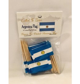 Popcorn Tree Called to Serve Toothpick Flags - Argentina