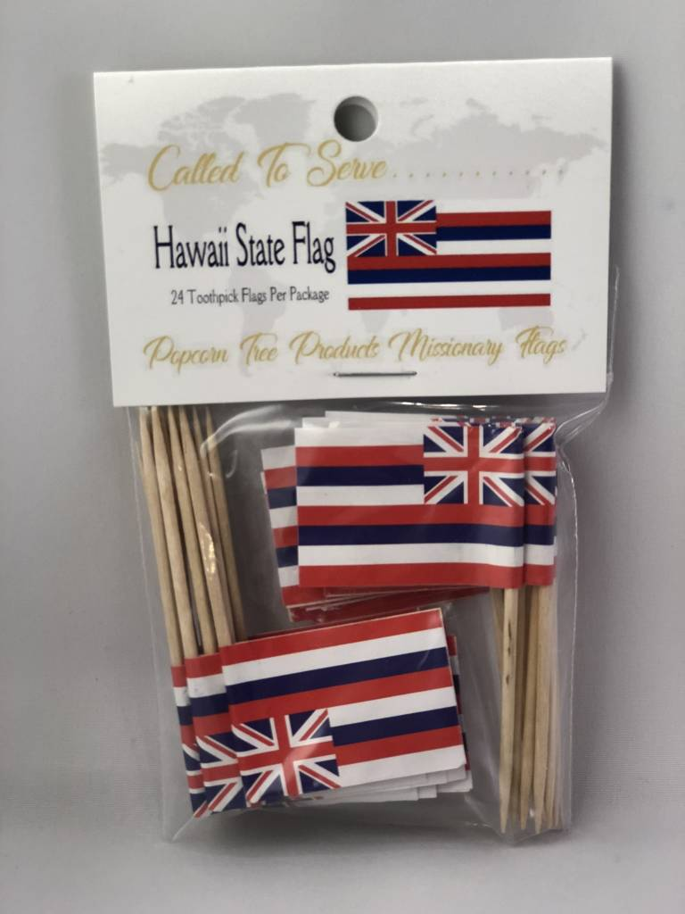 Popcorn Tree Called to Serve Toothpick Flags- Hawaii