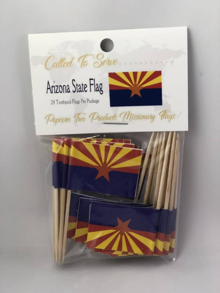 Popcorn Tree Called to Serve Toothpick Flags - Arizona