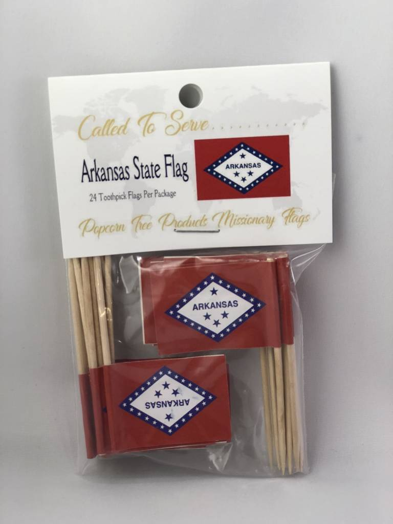 Popcorn Tree Called to Serve Toothpick Flags - Arkansas